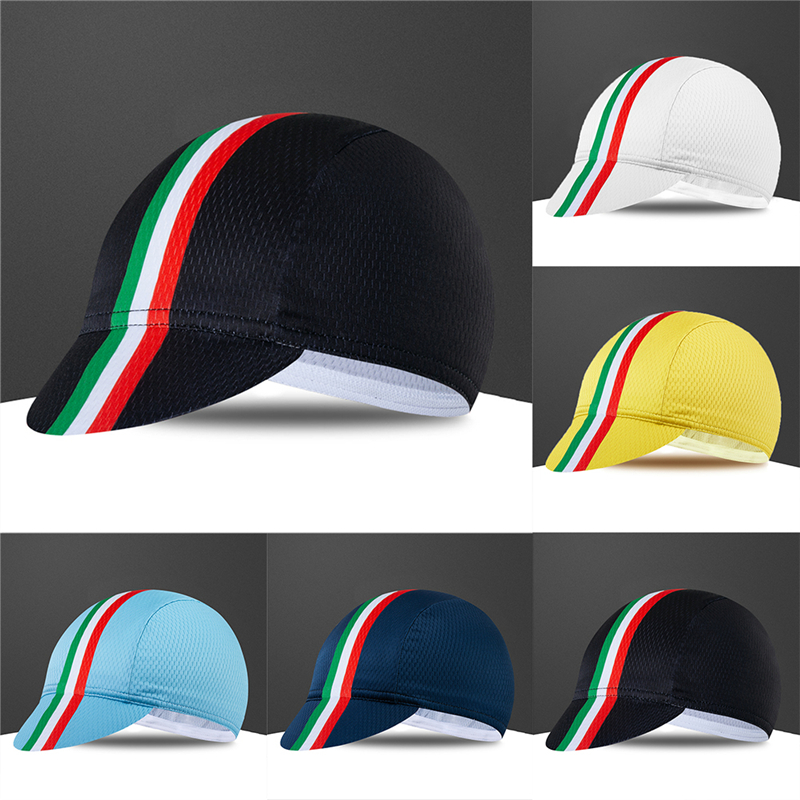 Italy Flag Quick Dry Cycling Cap Mountain Bike Race Hat Bicycle Headwear One Size Sports Caps Cycle Hat Men Women Gorra Ciclismo