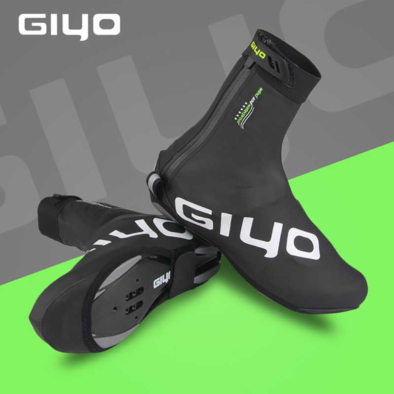1Pair Winter Thermal Fleece Zippered Shoes Cover Windproof Cycling Overshoes New
