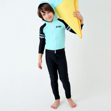 2017 Hot Sale Boy's Surfing Suit Children Competitive Swimsuit Long Sleeves Sports Swimwear Boy Beach Two Pieces Bathing Suit