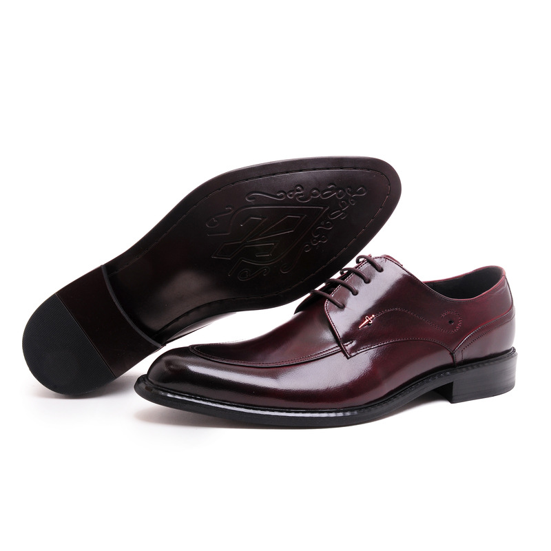 fashion classic vintage mens dress shoes genuine leather