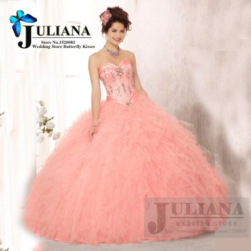Popular Peach Quinceanera Dresses-Buy Cheap Peach Quinceanera ...