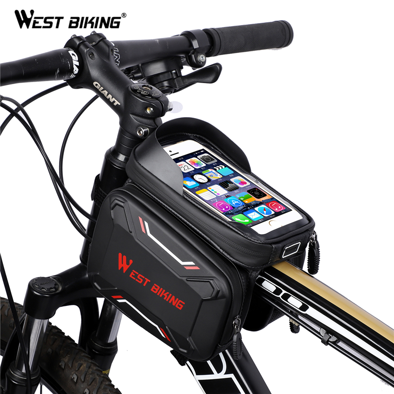 Waterproof Cycling Bike Front Top Frame Pannier Tube Bag Pouch for iPhone 8 X XS