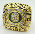 New styles 2015 Rose Bowl Fan Replica Championship Ring Oregon Ducks Champions rings size 11 solid for men gift