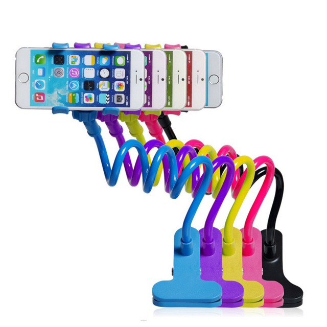 360 Rotating Flexible Long Arm cell phone holder stand lazy bed car selfie mount bracket for Apple iphone4 5S 6 plus,for samsung