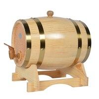 XMT HOME wine barrel white oak wood bucket mini alcohol keg mini beer kegs 3L/5L/10L/20L 1pc