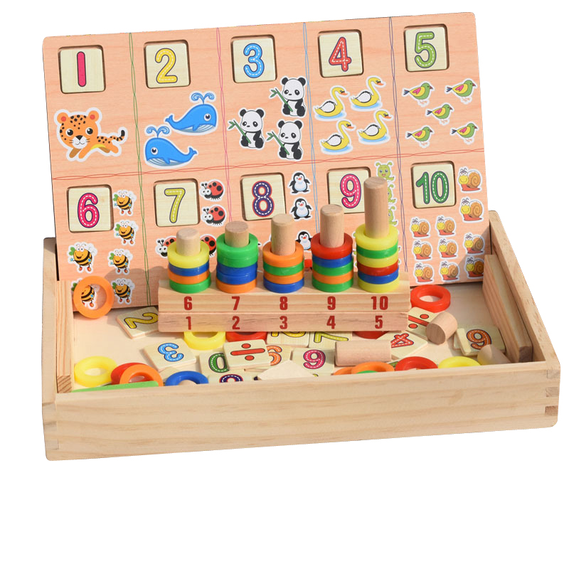 Montessori Puzzles Education Math Set Donuts Number