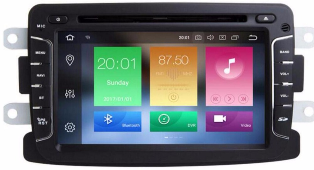 IPS DSP Android 8.0 4g/android 7.1 2 DIN DVD LECTEUR Radio DVD POUR Dacia Sandero Duster Renault captur Lada Xray 2 Logan 2 radio