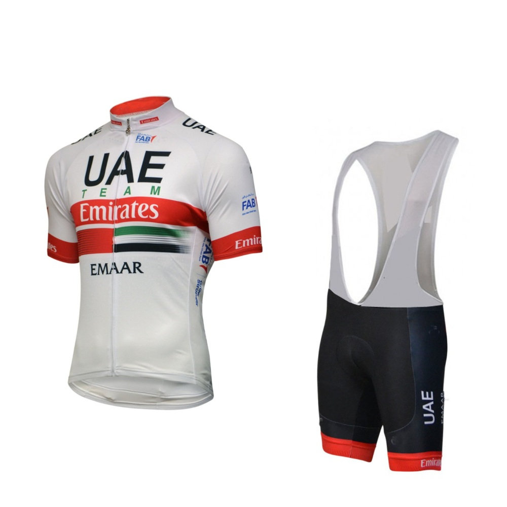 2019 Pro team uae white cycling jersey set Bicycle maillot MTB Racing ropa Ciclismo Short sleeve summer bike clothing GEL pad2019 Pro team uae white cycling jersey set Bicycle maillot MTB Racing ropa Ciclismo Short sleeve summer bike clothing GEL pad