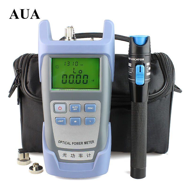 Wholesale 1mW Visual Fault Locator Fiber Optic Cable Tester and Optical Fiber Power Meter 70dBm 10dBm