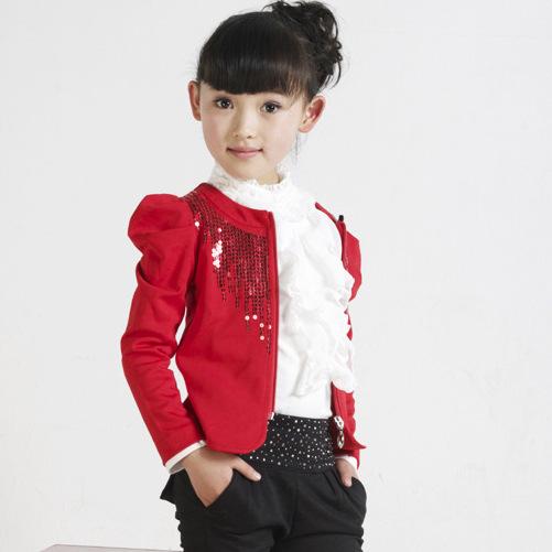 Anlencool NUEVA moda niñas chándal bebé niños ropa deportiva conjunto de pavo real lentejuelas juego de los niños ropa fijada para 4-14 años de edad