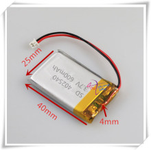 XHR-2P 2.54  3.7V 600mAh 402540 polymer lithium battery point reading machine business pen