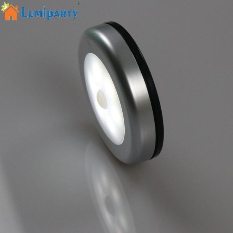 LumiParty Infrared PIR Motion Sensor 6 Led Night Light Wireless Detector Light Wall Lamp Light Auto On/Off Closet Battery Power