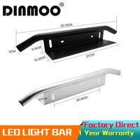 DINMOO Heavy Duty Bull Bar Bumper Front License Plate Mount Holder Mount Bracket Black Sliver For