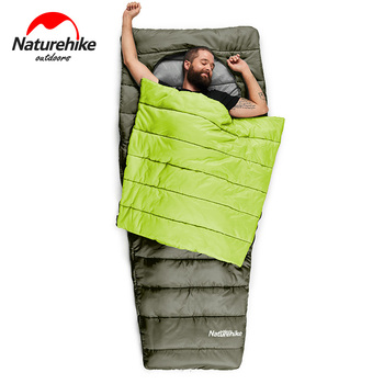 Naturehike  Mid-center Ellipse open Sleeping Bag Outdoor camping and home portable warm sleeping bag