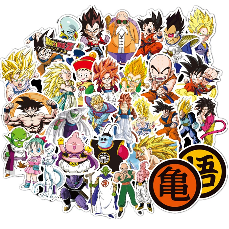 50 100pcs Dragon Ball Z Doodle Does Not Repeat The Individuality Sheet Car Motorcycle Draw Bar Box Cartoon Doodle Sticker Toy