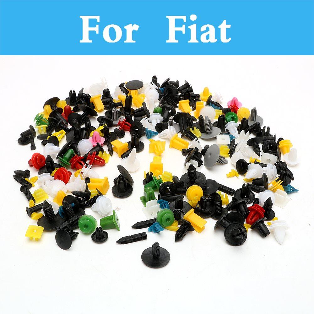 200pcs Car Plastic Cable Mount Clamp Clips Auto Fastener Mixed Wire Tie For Fiat Seicento Siena Stilo Palio Panda Sedici Easy To Use