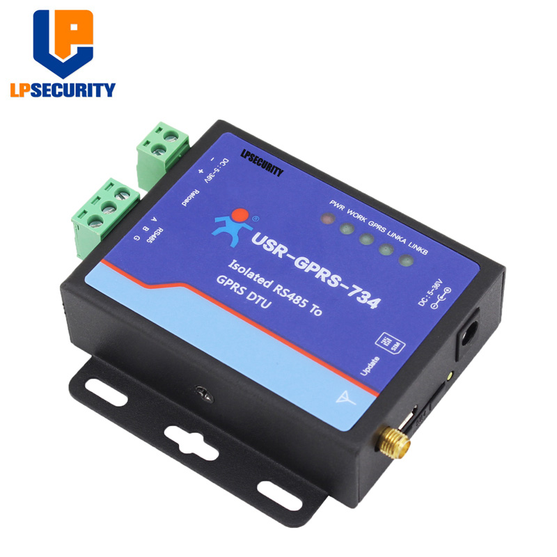 LPSECURITY USR-GPRS232-734 Serial RS485 To GPRS/GSM DTU RS485 ESD Protection English Version