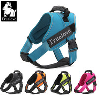 Truelove Firm Pet Dog Harness With Heavy Duty Handle No Pull Pet Dog Training Vest Nylon
