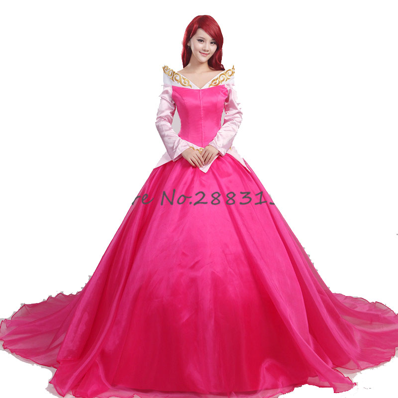 Movie Sleeping Beauty and princ Cosplay Costume princess women princess red dress adult women sexy aurora
