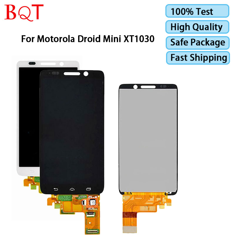 BQT Store For Motorola Droid Mini XT1030 LCD Display With Touch Screen Digitizer Assembly Guarantee Quality