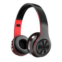 Bluetooth наушники активная шумоподавление стерео Беспроводная гарнитура с TF картой вход, Aux линия, мягкие наушники, встроенный микрофон