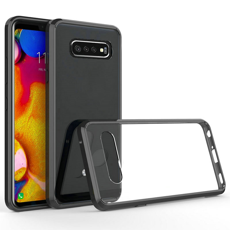 50Pcs/Lot For Samsung Galaxy S10 S10 E S10 Plus Anti-Knock TPU + PC Crystal Clear Acrylic Hard Case For Samsung Galaxy A6S