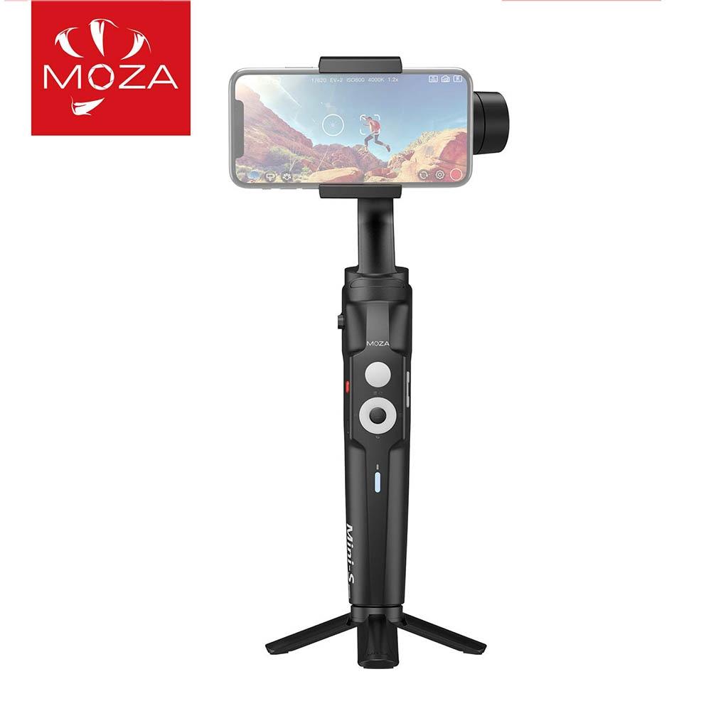 Moza mini-s smartphone cardan 3 eixos estabilizador cardan para o telefone iphone x xs max xr 8 7 plus samsung s9 + s9 huawei p30 vlog ao vivo