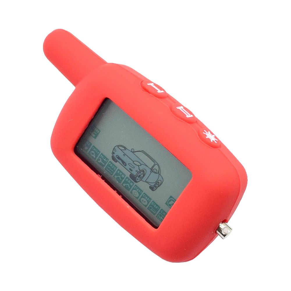 シリコーン車のキーケーススターライン A4 A6 A8 A9 V5 24 12v 双方向車の警報システム液晶 fob カバープロテクタースキンキーホルダーバッグ