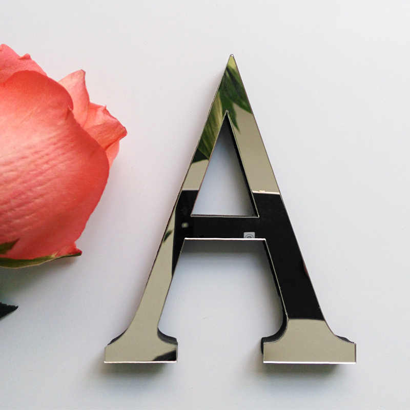 2019 nuevas pegatinas de pared diy 3d pegatina acrílica decoración boda regalo amor letras decorativas alfabeto decoración de pared