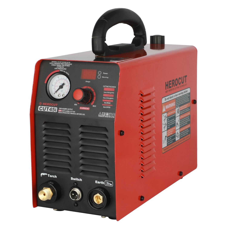 IGBT Plasma Cutter Cut45 CUT45i 220V  HeroCut Air Plasma Cutting Machine 10mm Clean Cutting