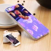I5 5S SE Мобильного Телефона Case Блеск Свет Крышка Для iPhone 5 5S СЕБЕ Искусство Печатные Ясно Рамка Case iPhone5 5S SE Оптовой Или розничная