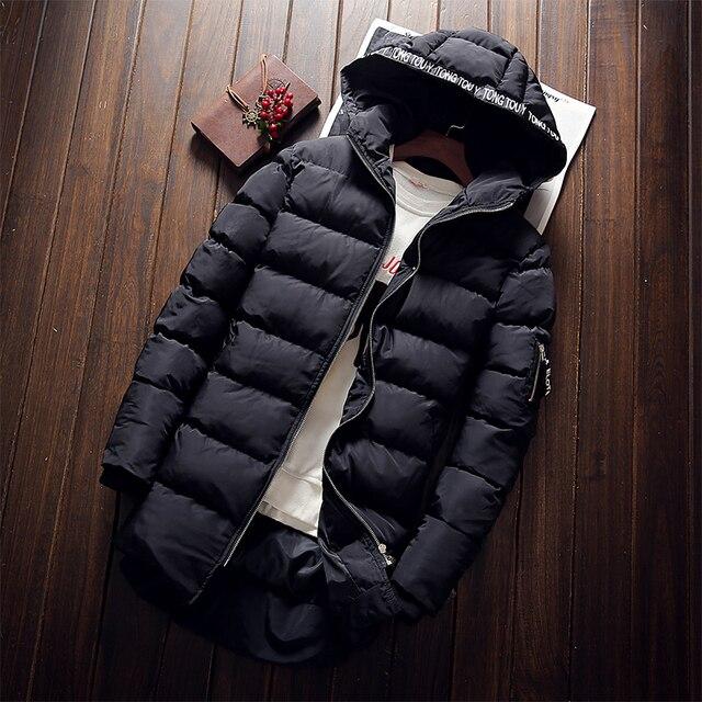 Nova Marca de Alta Qualidade Homens Jaqueta de Inverno Homens Jaqueta dos homens Casaco de Inverno Longo Engrosse Com Capuz Outwear Para Baixo Parka