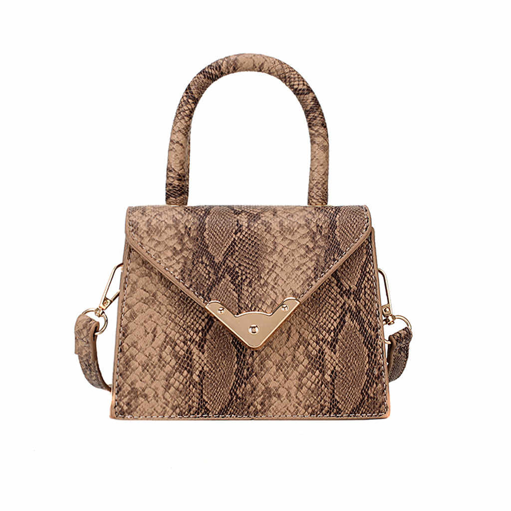 Women Snake Printing Handbag Python Shoulder Messenger Bag 2019 New Fashion Ladies Waist Bag Crossbody Drop Shipping