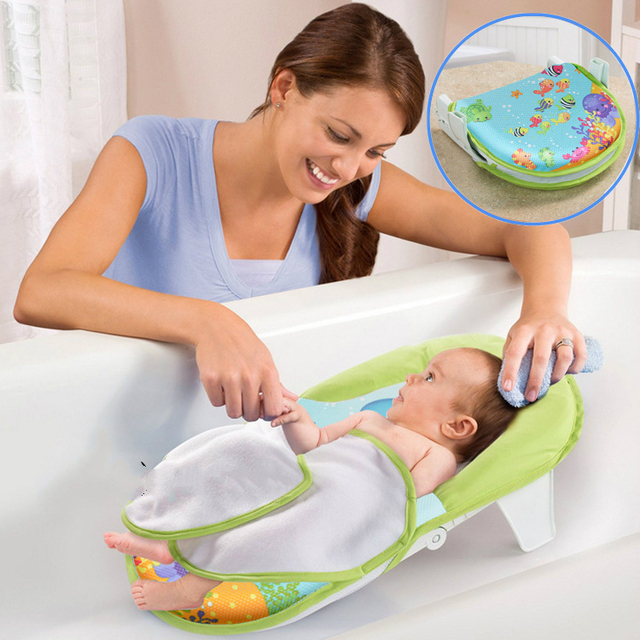Baby Bath Tub Infant Foldable Shower Chair Newborn Baby