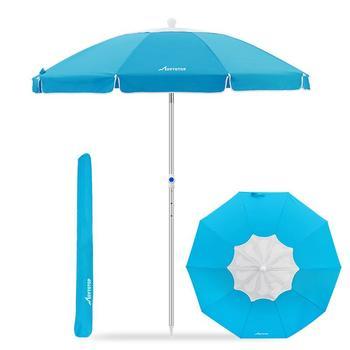 MOVTOTOP 1PC Flower Design Beach Umbrella UV Protection with Aluminum Pole Portable Wind Beach Umbrella Adjustable Sand Umbrella 6