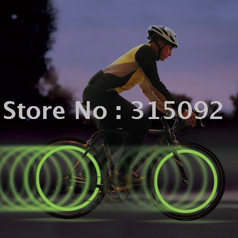 10 pc/lot Nite Ize Green LED SpokeLit Safely Light Bike Wheel Light New Free Shipping!!