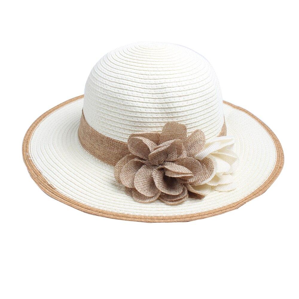 Difanni New Hot Flor Bowknot Sol Chapéu do Verão das Mulheres Dobrável  chapéu de Palha Chapéus Bela Senhora de Palha Praia Grande chapéu de Aba  chapéu em ... 8ef529b6492