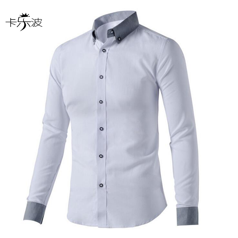 Casual Shirts Intelligent 2019 Autumn And Winter New Mens Shirt Fashion Casual Color Spinning Wash Lattice Slim Long-sleeved Shirt Mens Tide Men's Clothing