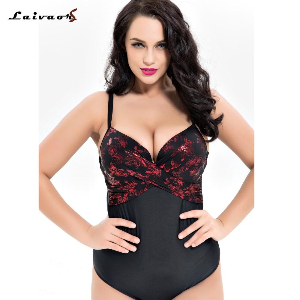 Qualité supérieure grande taille une pièce Maillot de Bain Femmes Floral Patchwork Solide Taille Haute maillots de bain Rétro maillot de bain imprimé 6XL