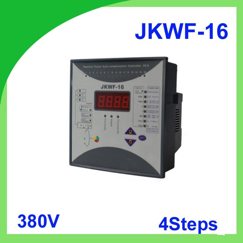 Reactive power automatic compensation controller RPCF3-16 JKWF-16 4steps 380V 50/60Hz reactive power compensation controller reactive power automatic compensation controller jkwf 16 16steps 220v reactive power compensation controller