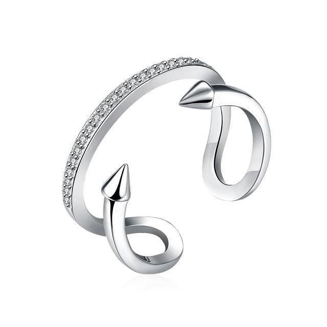 XU 925 Sterling Silber Draht Ringe Öffnen frauen Einzigartiges ...