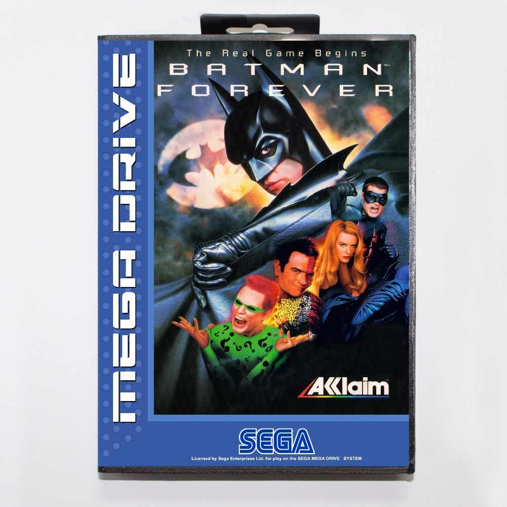 Batman Forever Game Cartridge 16 bit MD Game Card With Retail Box For Sega Mega Drive For Genesis