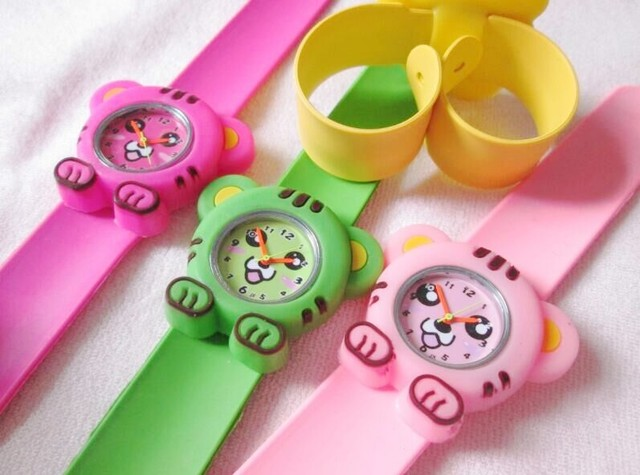 Wholesale 10pcs silicone slap watches Lovely tiger Cartoon watch boy girl child