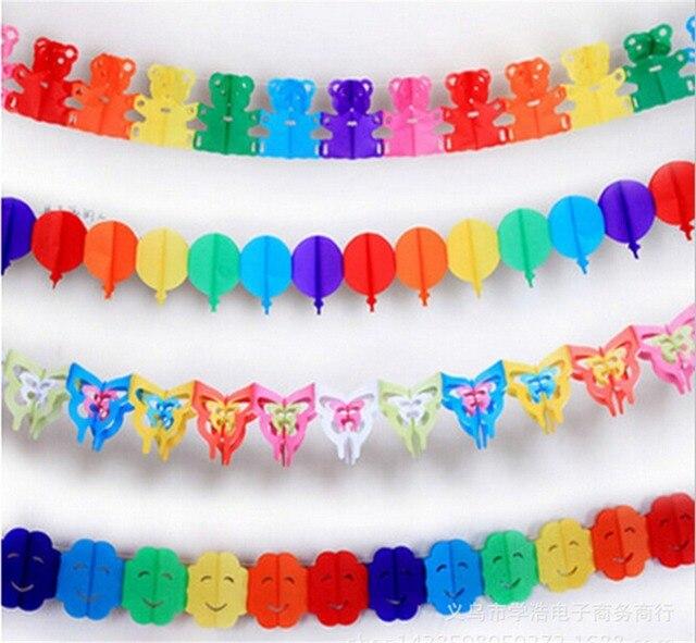 fiesta de cumpleaos de guirnaldas de papel colorful butterfly smiley colorido globo guirnalda