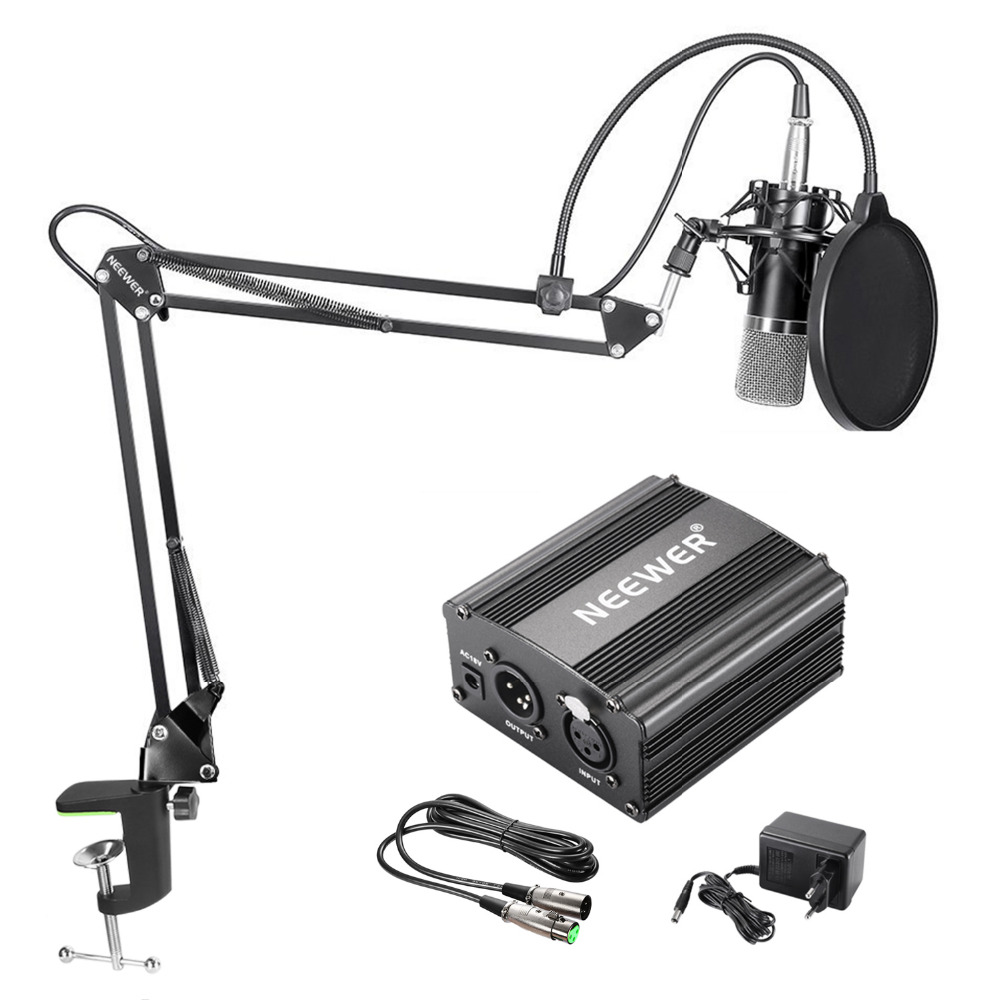 Neewer NW-700 Condenser Microphone Kit NW-35 Boom Scissor Arm Stand with Shock Mount Pop Filter XLR Cable for Home Studio Record плеер sony nw a35hn