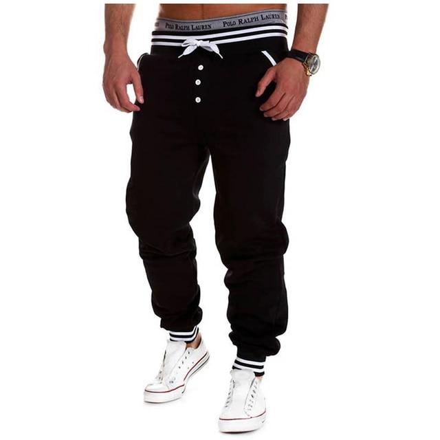 Contrast Color Elastic Men's Pants