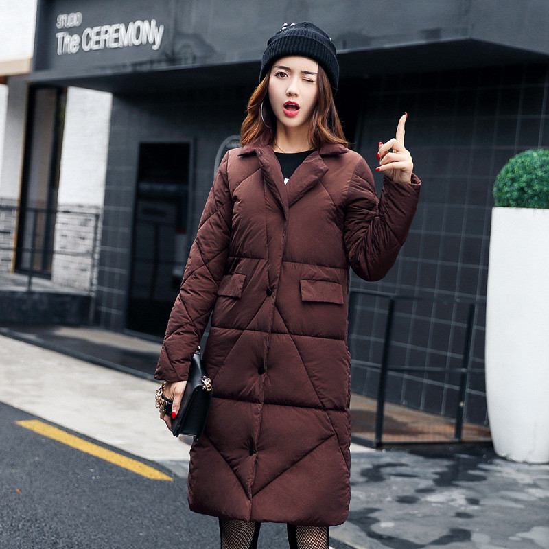 Winter Jacket Women High Quality Single-breasted Cotton Padded Coat Parkas Female Wadded Medium-long Parka Girls Outerwear high quality women winter parkas 2017 new fashion female medium long loose cotton padded wadded jacket coat plus size 3xl cxm206
