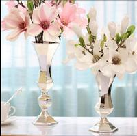 European fashion modern iron vase for modern home and table decoration wedding metal vase wedding gift HP066