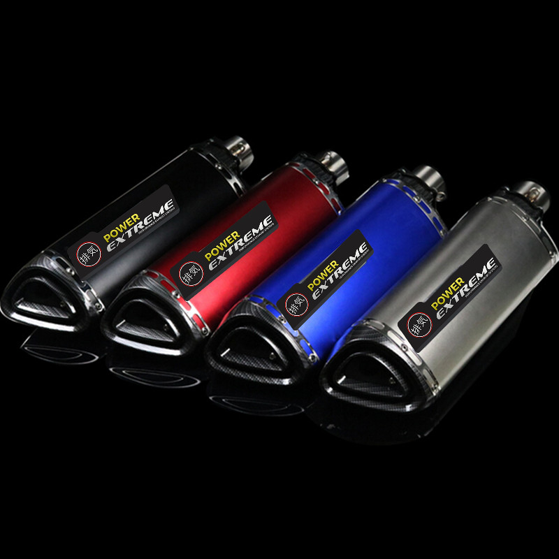 UNIVERSAL MOTORCYCLE EXHAUST RACING MUFFLER Modified Scooter GP DIRT BIKE MUFFLER FOR MOST MOTORCYCLE modified akrapovic exhaust escape moto silencer 100cc 125cc 150cc gy6 scooter motorcycle cbr jog rsz dirt pit bike accessories