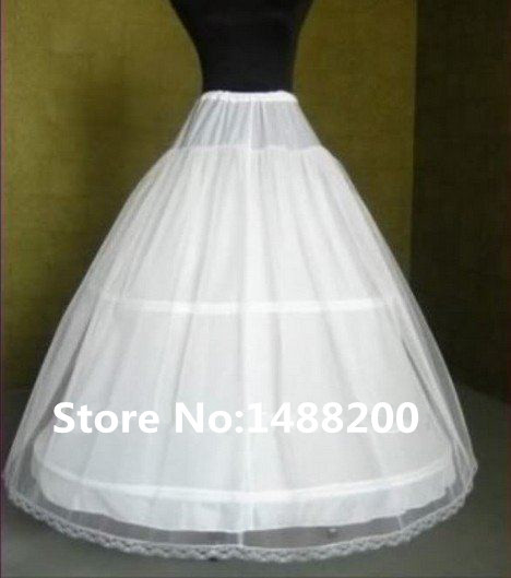 Promotional! A Line 3 Hoops/2 Layers Bridal Wedding Gown